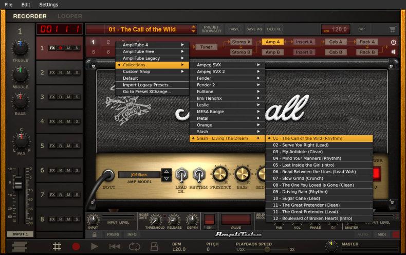 AmpliTube Slash presets
