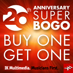 IK Multimedia's 20th Anniversary Super BOGO