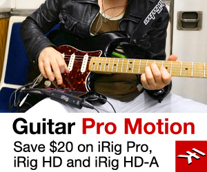 Save $20 on IK Multimedia's iRig PRO, iRig HD & iRig HD-A