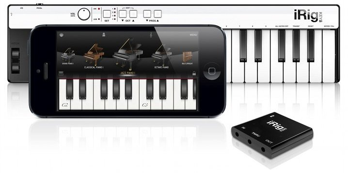 iGrand Piano for iPhone with iRig KEYS and iRig MIDI