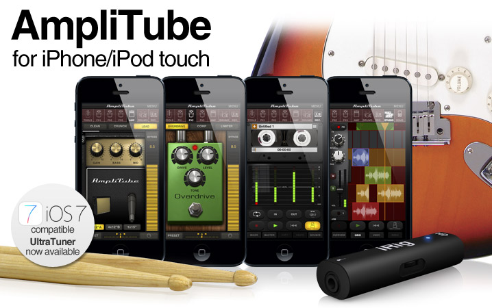 AmpliTube for iPhone/iPod touch - Now iOS 7 and Inter-App Audio compatible