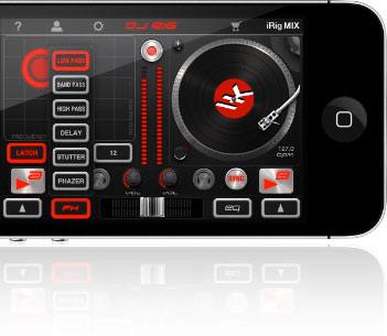 DJ Rig effects menu