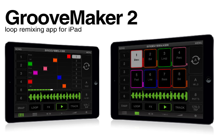 GrooveMaker - real-time remixing app for iPhone/iPad