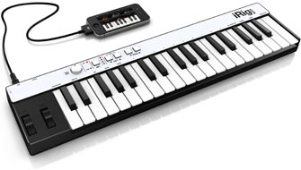 iGrand Piano with iRig KEYS and iPhone