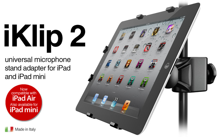 iKlip 2 - universal microphone stand adapter for iPad - for iPad mini