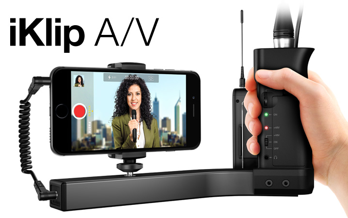iKlip A/V - The first smartphone broadcast mount for pro-quality audio/video