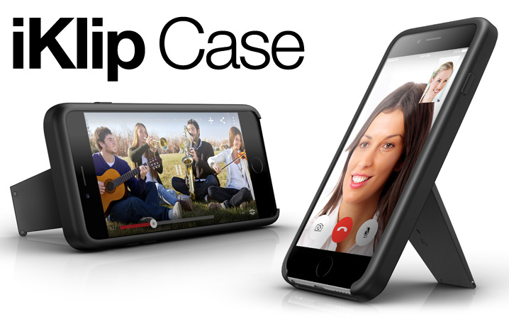 iKlip Case - Durable case with positionable stand for iPhone 6, iPhone 6s and iPhone 6 Plus
