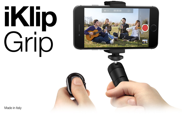 iKlip Grip - The multifunctional smartphone video stand with Bluetooth shutter