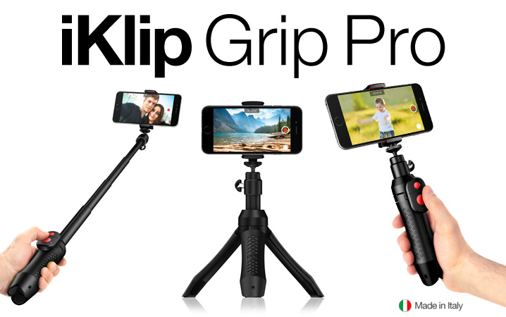 iKlip Grip Pro - The multifunction iPhone and camera stand with Bluetooth shutter