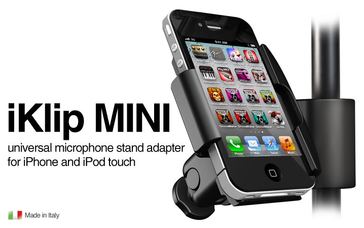 iKlip MINI - Universal microphone stand adapter for iPhone and iPod touch