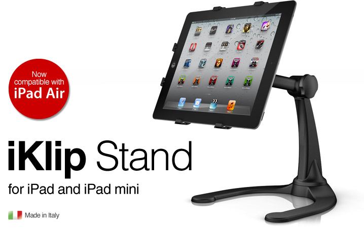 iKlip Stand for iPad and iPad mini - adjustable desktop riser stand