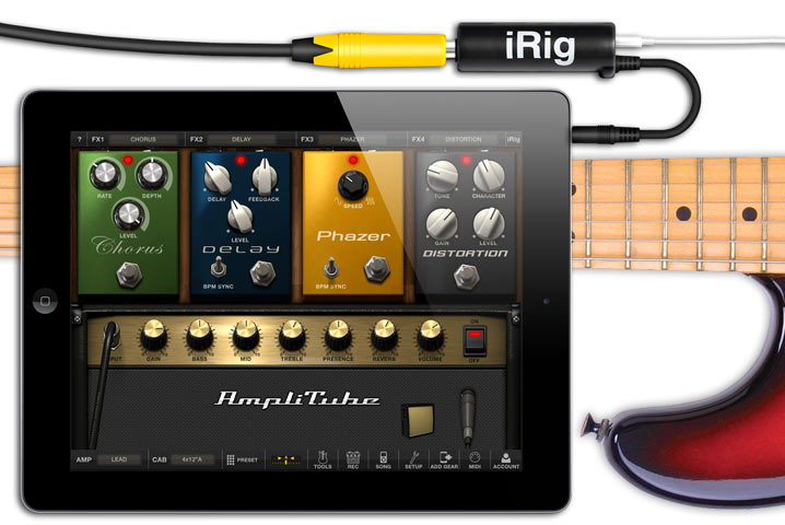 iRig with iPad and AmpliTube
