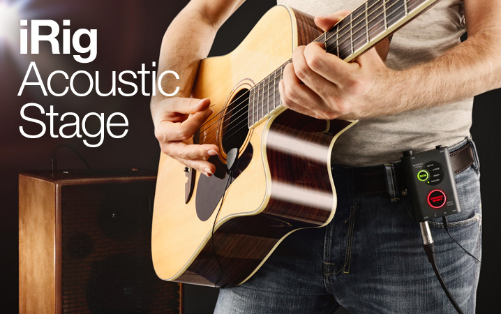 iRig Acoustic Stage - Advanced digital microphone system for acoustic guitar