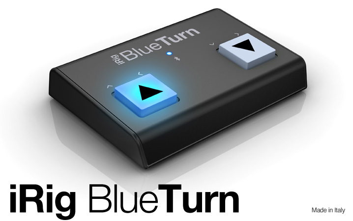 iRig BlueTurn - The backlit compact Bluetooth page turner for iPhone, iPad, Mac and Android