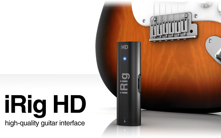 iRig HD - high-quality digital guitar interface for iPhone/iPod touch/iPad/Mac