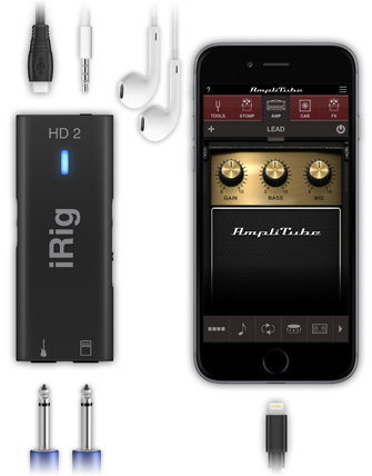 iRig HD 2 with iPhone and AmpliTube