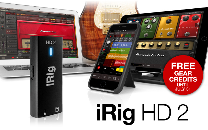 iRig HD 2 - Professional quality digital guitar interface for iPhone, iPad, Mac and PC