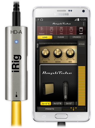 iRig HD with Samsung Galaxy Note 4 and AmpliTube
