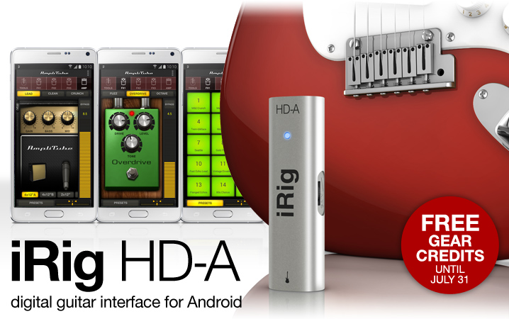 iRig HD-A - high-quality digital guitar interface for Android