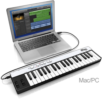 iRig Keys with laptop