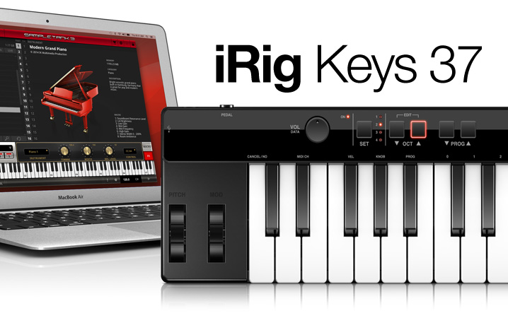 iRig Keys 37 - 37 mini-keys USB controller for Mac/PC