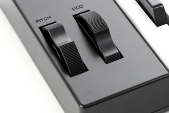 iRig Keys 37 modulation and pitch wheels