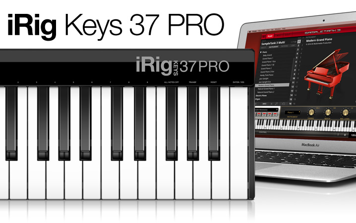 iRig Keys 37 PRO - The affordable 37 full-sized-key MIDI controller for Mac/PC
