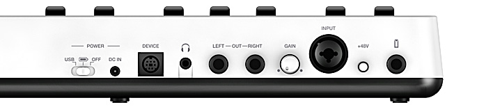 iRig Keys I/O connections
