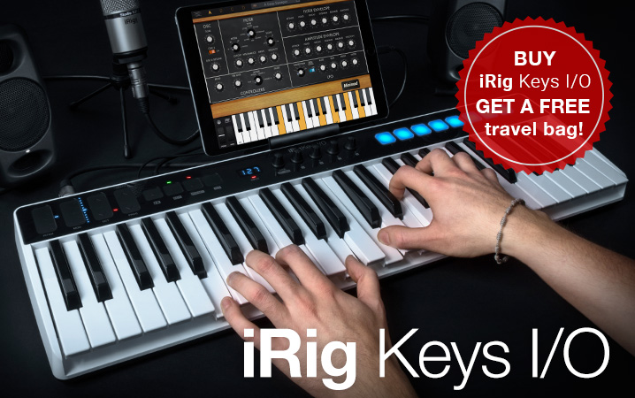 iRig Keys I/O - full-sized-key controllers and audio interfaces for iPhone, iPad and Mac/PC