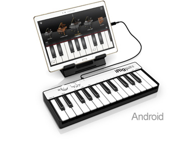 iRig Keys MINI with Android tablet
