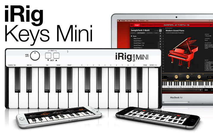 iRig Keys Mini - The 25 key universal mini keyboard controller
