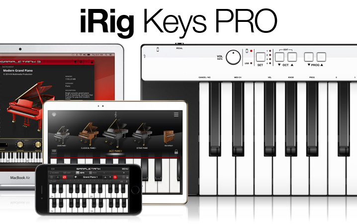 iRig Keys PRO - 37 key universal keyboard controller