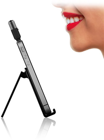 iRig Mic Cast with tabletop stand
