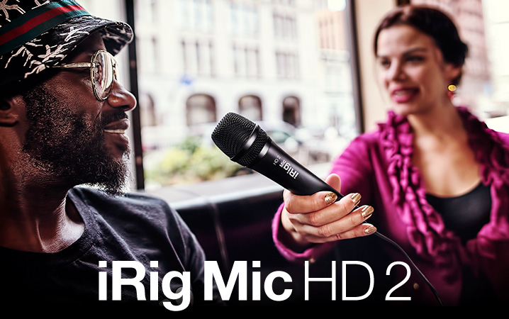 iRig Mic HD 2 - The only handheld digital condenser microphone for iPhone, iPad and Mac/PC