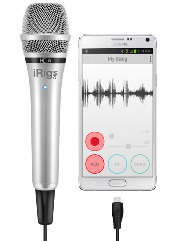 iRig Mic HD-A - Samsung Galaxy Note 4 - EZ Voice