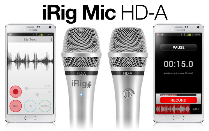 iRig Mic HD-A - The first handheld digital microphone for Android and PC