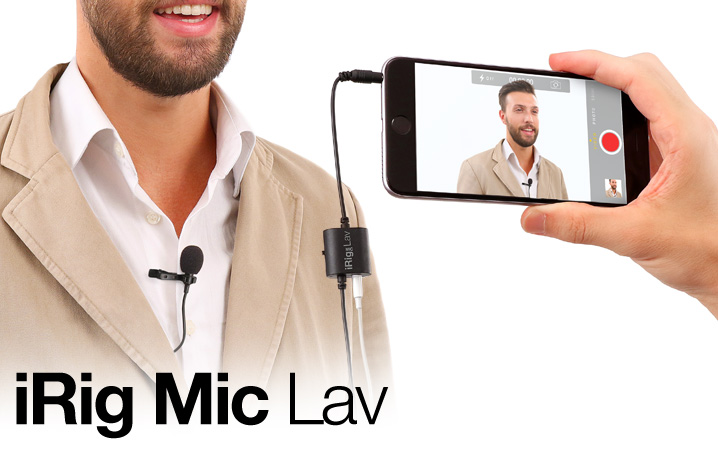 iRig Mic Lav - The first chainable mobile lavalier for all mobile devices