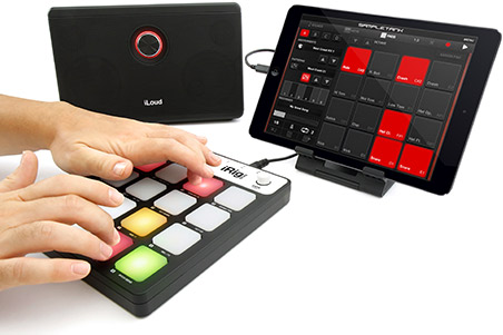 iRig Pads - MIDI groove controller for iPhone, iPod touch, iPad and Mac/PC
