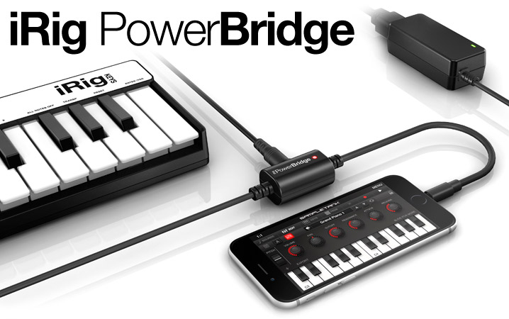 iRig PowerBridge - The first universal charging solution for all iPhone, iPad and iPod touch digital iRig accessories