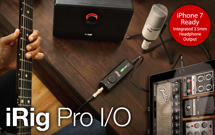 iRig Pro I/O - The ultra-compact professional audio & MIDI interface for all your stuff