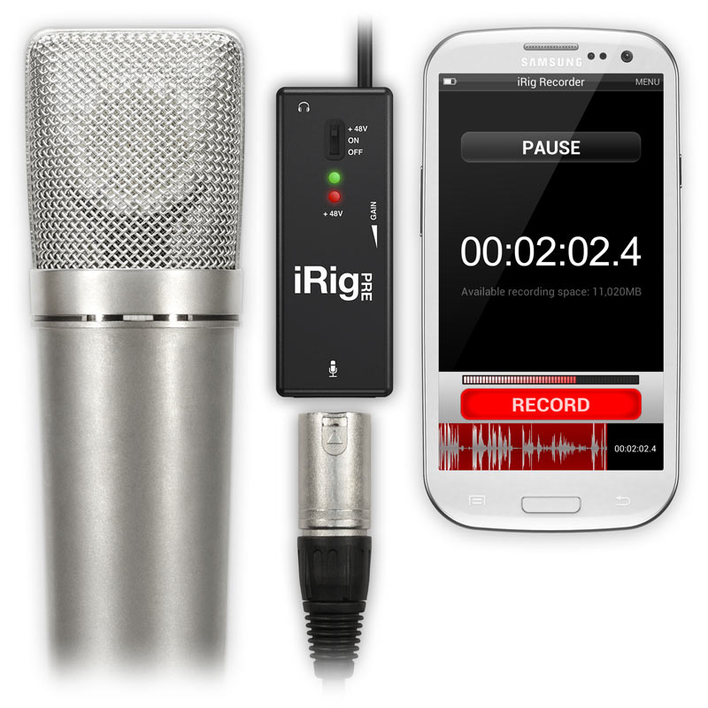 Irig Pre Microphone Recording Interface Music At Noosa