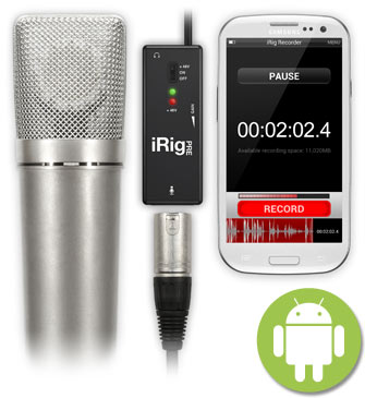 iRig PRE with Android devices