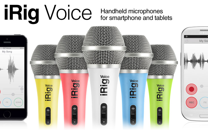iRig Voice - Handheld microphone for iPhone, iPod touch, iPad and Android devices