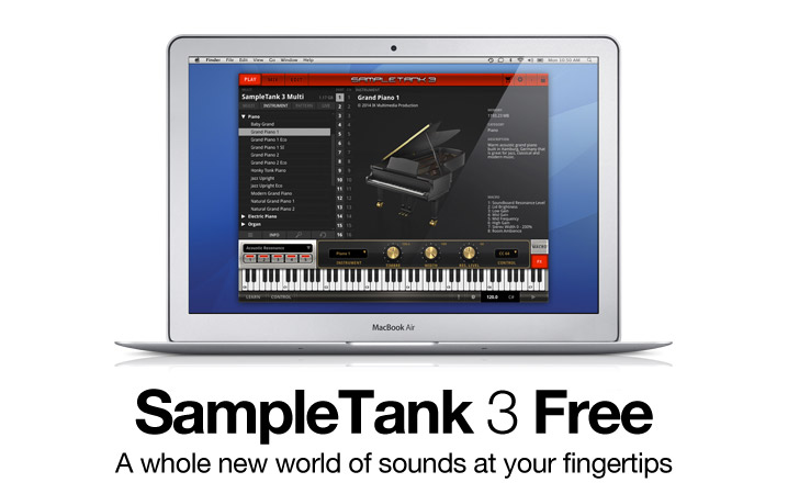 SampleTank 3 Free - the history-making industry standard music and sound workstation