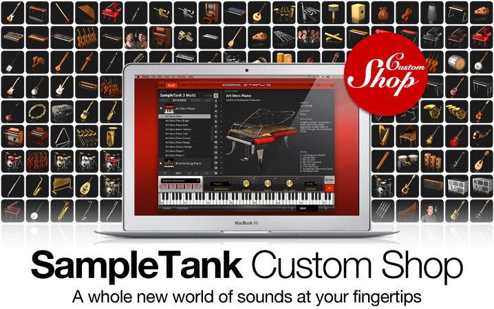 SampleTank 3 Custom Shop - the free history-making industry standard music and sound workstation