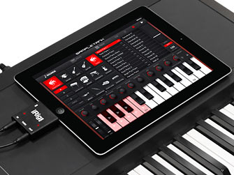 iRig MIDI keyboard closeup