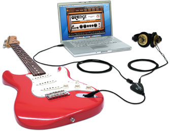 with FenderStudio and headphones