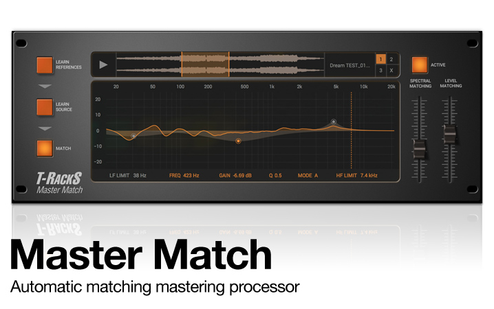 T-RackS Master Match - Automatic matching mastering processor