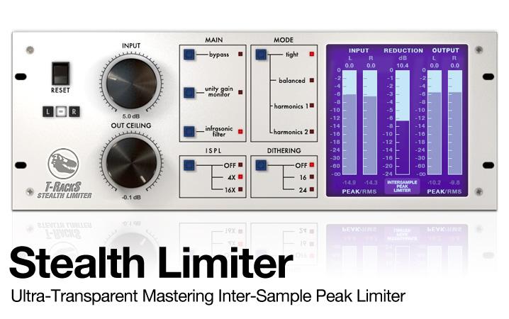 T-RackS Stealth Limiter - Transparent mastering limiter
