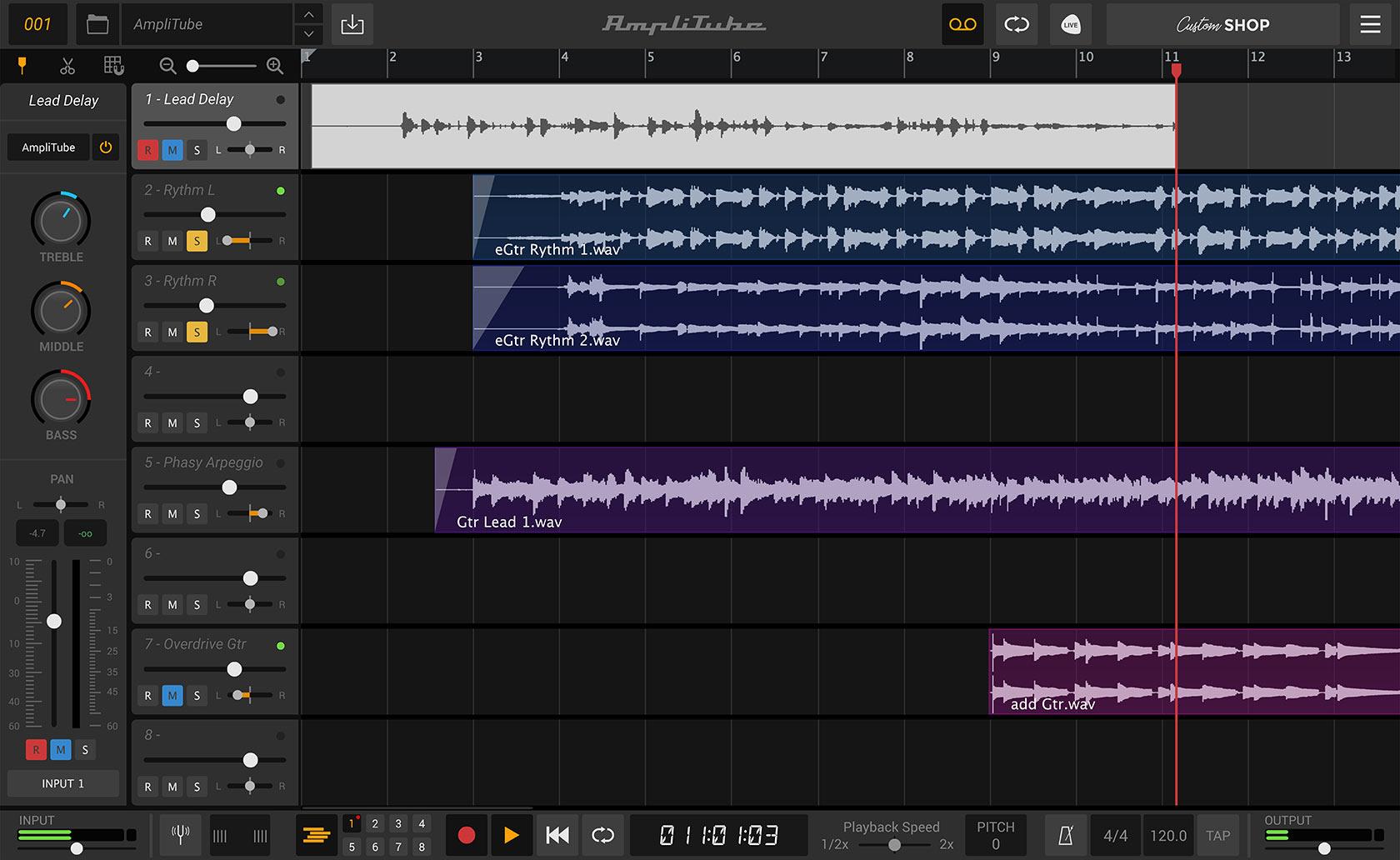 AmpliTube 5 recording